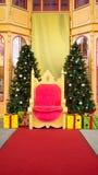 Jul- och jultomtenetapp Royaltyfria Foton