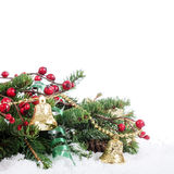 Jul och kant för nytt år Royaltyfria Foton