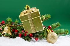 Jul och kant för nytt år Royaltyfri Foto