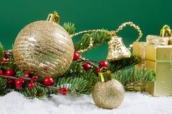 Jul och kant för nytt år Royaltyfria Bilder