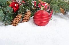 Jul och kant för nytt år Arkivfoton