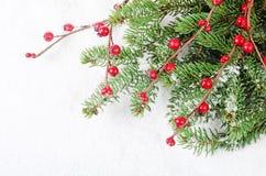 Jul och kant för nytt år Arkivbilder