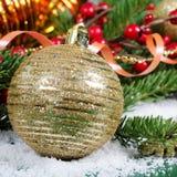 Jul och kant för nytt år Royaltyfri Fotografi