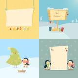 Jul och kort för nytt år Arkivbild