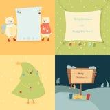 Jul och kort för nytt år Royaltyfri Foto