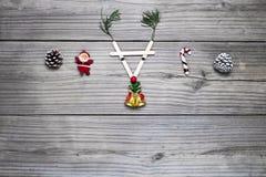 Jul och lantlig bakgrund för nytt år, arkivfoto
