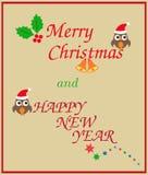 Jul och lyckligt nytt år CAD Arkivfoton