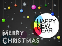 Jul och mörkerbakgrund för nytt år vektor illustrationer
