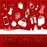 Jul och mall för nytt år vektor illustrationer