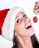 Jul och mat Royaltyfria Bilder