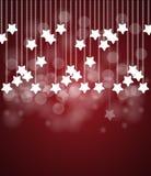 Jul och nattsky för nytt år Arkivfoton