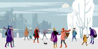 Jul och nyårsafton vektor illustrationer