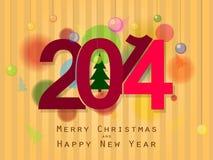 Jul och nytt år 2014 stock illustrationer