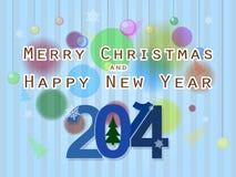 Jul och nytt år vektor illustrationer