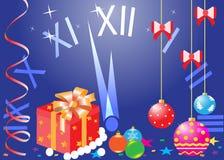 Jul och nytt år, hälsningkort Royaltyfri Bild