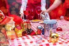 Jul och parti för nytt år Arkivfoto