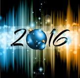 2016 jul och partireklamblad för lyckligt nytt år royaltyfri illustrationer