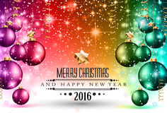 2016 jul och partireklamblad för lyckligt nytt år Arkivbild