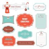 Jul och ramar och baner för lyckligt nytt år Arkivfoto