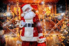 Jul och Santa Claus arkivbild