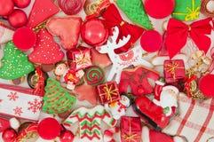 Jul och themed garnering för nytt år Royaltyfri Fotografi