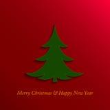 Jul och träd för nytt år Royaltyfri Foto