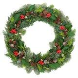 Jul och vinterkrans Royaltyfria Bilder