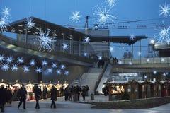 Jul på Citylife, Milan Royaltyfri Fotografi