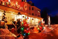 Jul på den röda Lion Inn, arkivfoton