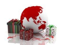 Jul på rengöringsduken - valentin dag 3 Arkivbilder