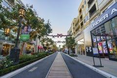 Jul på shoppinggallerian, Glendale Galleria Royaltyfri Fotografi