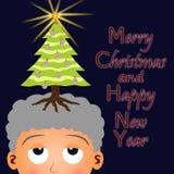 Jul på mitt huvud Arkivbilder