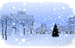 Jul Paris royaltyfri illustrationer