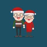 Jul pensionerade äldre höga ålderpar Arkivbild