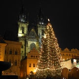 jul prague Arkivbilder