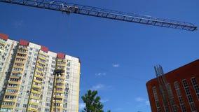 20 2017 Jul Rosja moscow budowa ustanowione cegieł na zewnątrz miejsca Obracanie huku basztowy żuraw zbiory