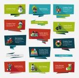 Jul sänker banerbakgrundsuppsättningen, eps10 Arkivbild