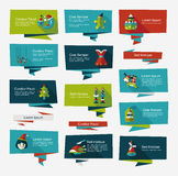 Jul sänker banerbakgrundsuppsättningen, eps10 Arkivfoton