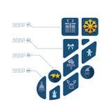 Jul sänker infographic royaltyfri illustrationer