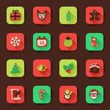 Jul sänker symboler i en fyrkant Royaltyfri Bild