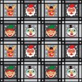 Jul sömlösa Santa Claus och ren Arkivfoto