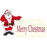 Jul Santa Claus Cartoon Sign royaltyfri illustrationer