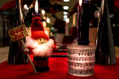Jul Santa Claus Decorations royaltyfria foton