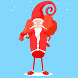 Jul Santa Claus Gifts Stock Illustrationer