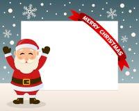 Jul Santa Claus Horizontal Frame Royaltyfria Foton