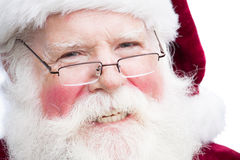 Jul Santa Claus med specifikationer royaltyfri bild