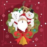 Jul Santa Claus och vän Arkivbilder