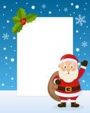 Jul Santa Claus Vertical Frame Royaltyfri Fotografi