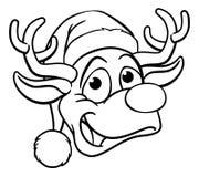 Jul Santa Hat Reindeer Arkivbilder