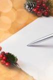Jul Santa Letter Arkivfoton